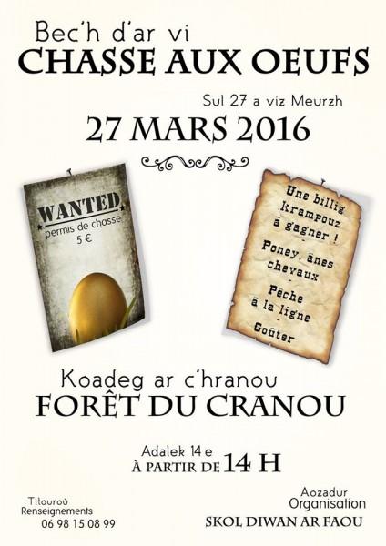 Chasse aux oeufs Forêt du Cranou