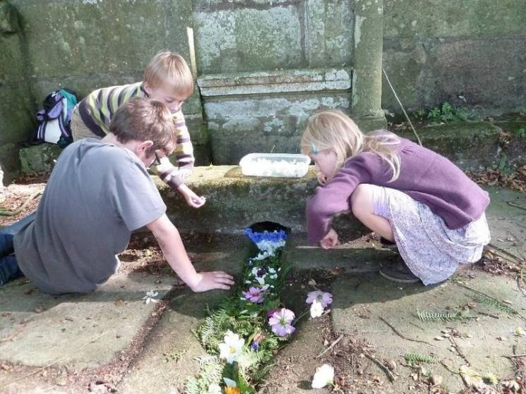 La Fontaine et les enfants