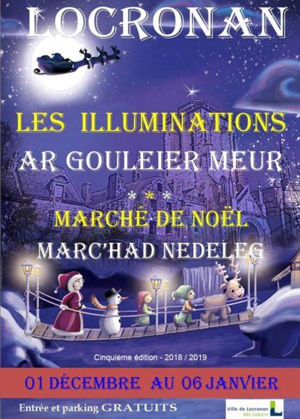 Illuminations de Noël à Locronan