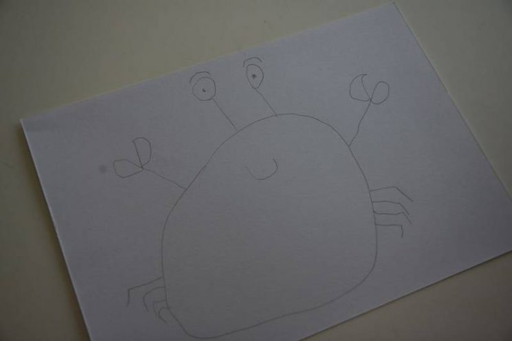 Crabe dessiné