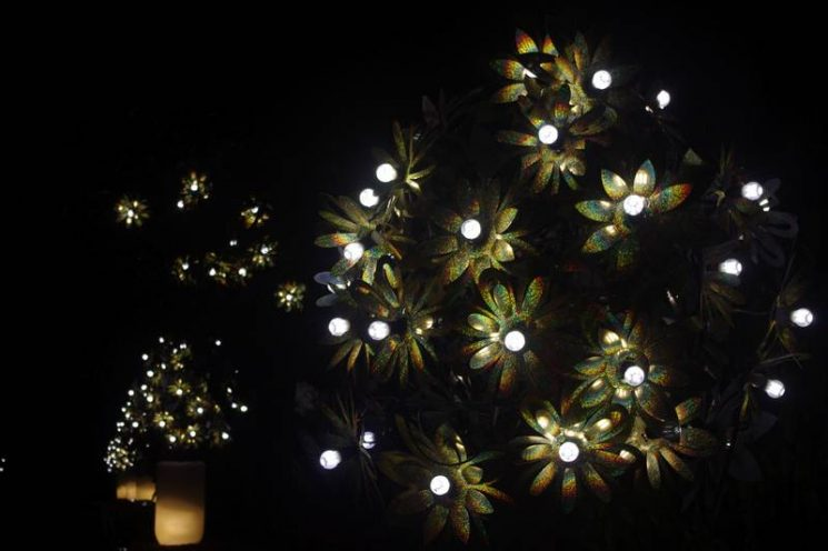 Illuminations à la nuit tombante