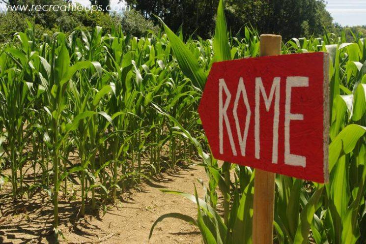 Labyrinthe de maïs à Clohars-Fouesnant