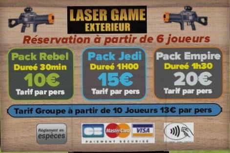 Tarifs Laser Game Extérieur