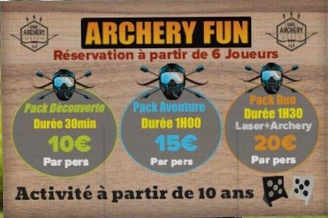 Tarifs Archery Fun