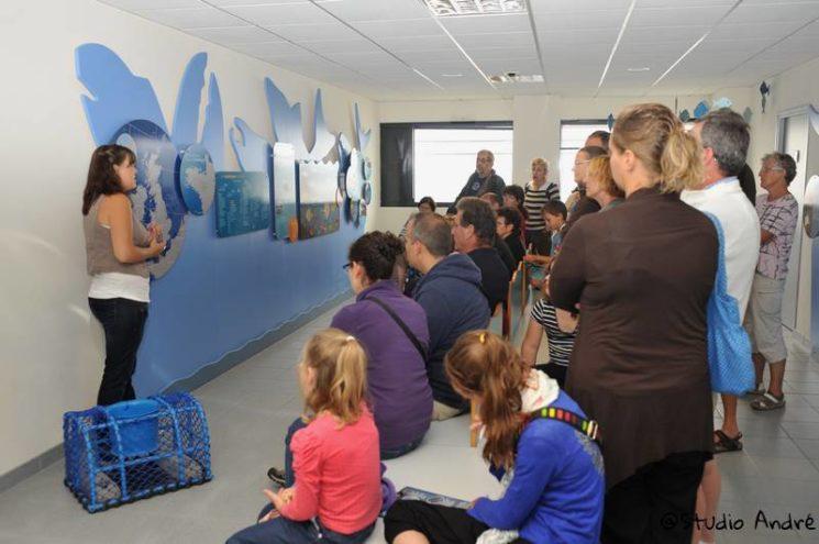 Galerie de visite de la Criée de Roscoff