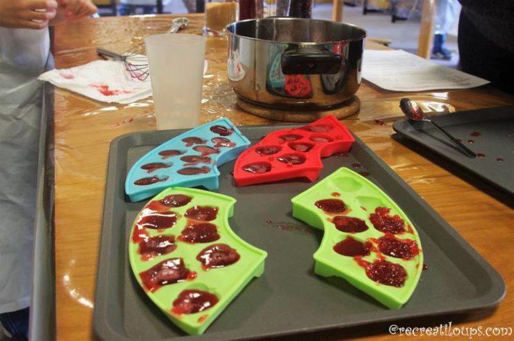 Bonbons gélifiés à l'hibiscus