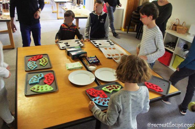 Atelier bonbons à l'Abbaye de Daoulas