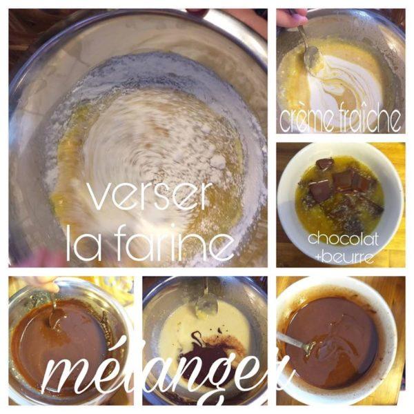Préparation du Moelleux au Chocolat