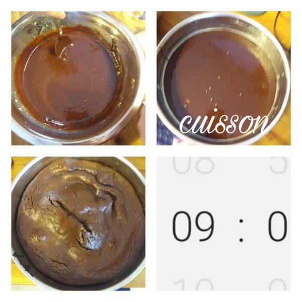 Cuisson du Moelleux au chocolat
