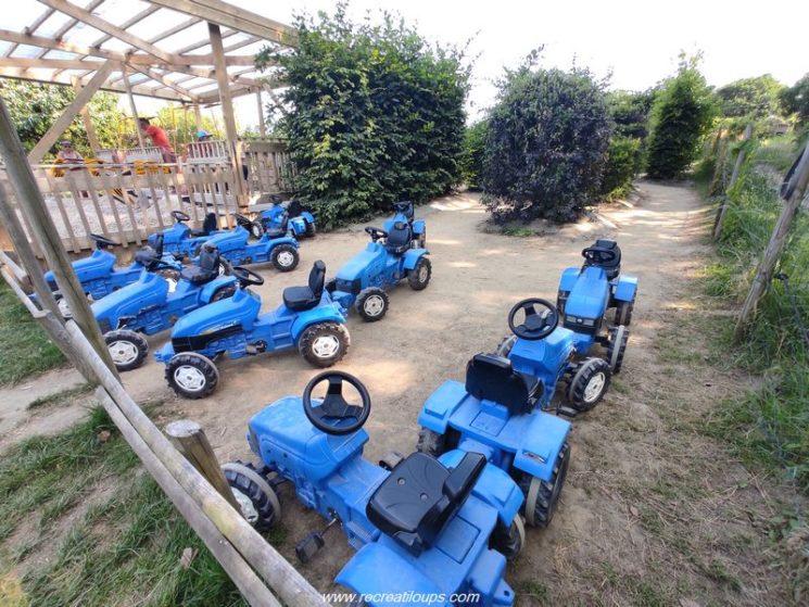 la zone tracteurs à pédales